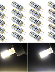 3W G4 Luces LED de Doble Pin 24 SMD 3014 120 lm Blanco Cálido / Blanco Fresco DC 12 V 10 piezas