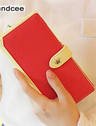 Handcee® Woman PU Candy Color Long Purse The Most Popular Cute Lady Purse