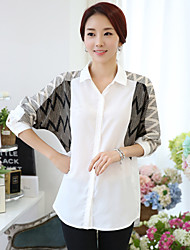 Women's Shirt Collar Long Sleeve Chiffon Blouse