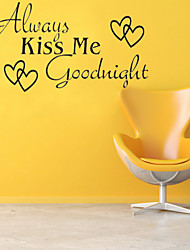 Wall Stickers Wall Decals, Style Always Kiss Me English Words & Quotes PVC Wall Stickers