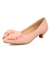 Zapatos de mujer - Tacón Bajo - Tacones / Puntiagudos - Tacones - Vestido - Semicuero - Rosa / Morado / Rojo / Beige