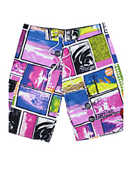 Men's Fashion Print Looes Surf Board Short Quick Dry Beach Swim Shorts