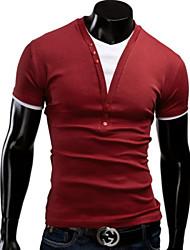 Men's Casual Short Sleeve Regular T-Shirts