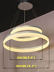 Round LED Pendant Light Modern Acrylic Lamps Lighting Luxurious Double Rings D2040 Ceiling Lights Fixtures