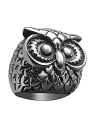 Men's Owl Titanium Ring