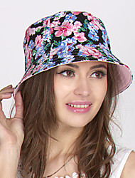 Women Cotton/Polyester Bowler/Cloche Hat , Vintage/Cute/Party Summer