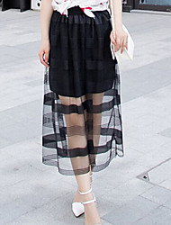 Damen Röcke  -  Spitze Midi Spitze Mikro-elastisch