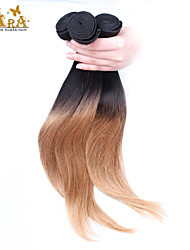 "3Pcs/Lot 10""-26"" Indian Virgin Hair Color 1B27 Straight Human Hair Weaves"