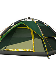 Tripolar Outdoor automatic 3-4 tent ,Double layer tent camping,Sky blue, Army green tent FA2117X