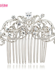 Neoglory Jewelry Rhinestone and Drop Zirconia Flower Wedding Bridal Hair Comb Accessory