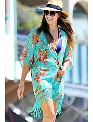 Robes Légères Aux femmes Franges Mousseline de soie
