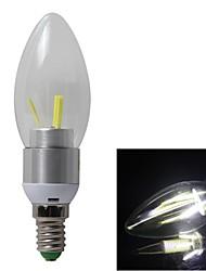 6pcs 3w e14 3xc0b 350lm koele witte kleur licht LED kaars lamp (AC85-265V)