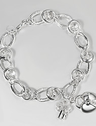 Italy 925 Silver Fashion Heart Design Bracelet Bangles Bracelets Pandoras Hot Selling Products