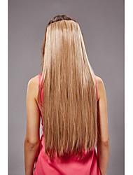 62 centímetros de fibra sintética resistente cabelo rabo de cavalo em linha reta longa de linho bb clip-on mulheres