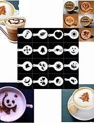 Bakeware High Quality Spray Molds Printing Latte Molds for Coffee (Set of 16)