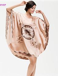 Damen Babydoll & slips / Hemden & Kleider / Roben / Besonders sexy / Uniformen & Cheongsams Nachtwäsche Druck-Elasthan / Polyester / Seide