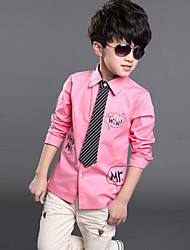 Boy's Cotton Shirt , Summer/Spring/Fall Long Sleeve