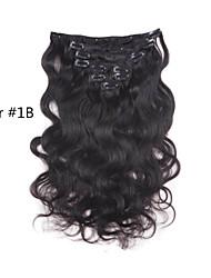 10inch-30inch clip 120g en brésilien couleur extensions de cheveux (de # 1 # 1b # 613) corps clip vague dans les extensions