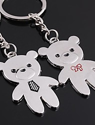 Unisex Alloy Keychain Lovely Bear Valentine's Day Key Chains 1 Pair