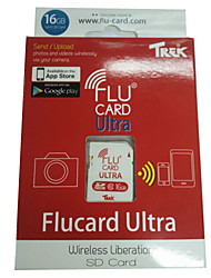 FluCard PRO SD Memory Card  WiFi for Camera (16GB  Class 10)