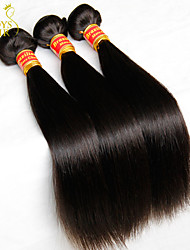 "3 Pcs Lot 8""-30"" Virgin Brazilian Straight Hair Wefts Natural Black 1B# Cheap Remy Human Hair Weave Bundles Tangle Free"