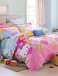 Bedding Set 100% Cotton 4pcs Comforter Duvet Cover Bed Sheet Bedclothes Home Textile Flat Sheet Pillowcase Varied Size