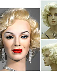cosplay Hot Models in Europe and America New High-quality Synthetic Wig Golden Monroe