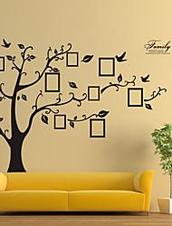 parede adesivos de parede decalques, estilo de foto preto parede pvc árvore adesivos