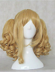 Woman's Synthetic Hair Wigs Middle Long Wavy  Natural Animated Wigs Blonde Cosplay Wig Party Wigs