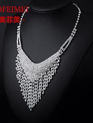 Bridal Jewelry Set Korean Fashion V-shaped tassel necklace bride wedding dress accessories