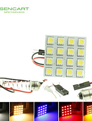 SV8.5 la g4 t10 LED 3W 16x5050smd conduit 160lm bleu / rouge / blanc chaud / jaune / blanc pour ampoule de voiture (dc12-16v)