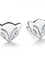 KIKI 925 fire fox Silver Earrings
