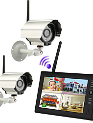 "neue Wireless 4-Kanal-DVR 2 Quad-Kameras mit 7 ""TFT-LCD-Monitor Home Security System"