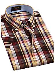 U&Shark Casual&Dress Men's 100% Fine Cotton Short Sleeve Shirt  by American Wahsing/DSX-010