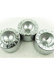 shunwei® 3pcs cristal decoración del coche número tornillo de la tapa de diamantes