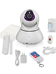 Snov HD WIFI IP IR Home Video Camera Alarm, with 4pcs Wireless Alarm sensors, Phone APP SV-VPC2EK3