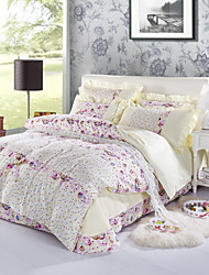 Yuxin®Cotton Brushed Korean Velvet Skin-Friendly Family of Four  1.5M-1.8M Bed