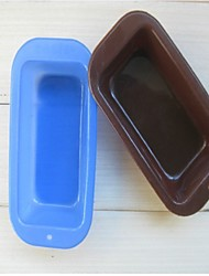 Fashion 10pcs/lot Toast Bread Cake Baking Mold Silicone Cake Modelling Soap Ice Jelly Pudding Making Cake (Random Color)