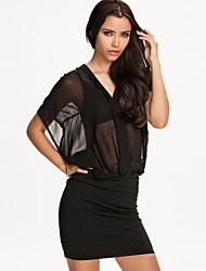 Vestidos ( Negro , Gasa/Poliéster , Desempeño/Ropa de Noche ) - Desempeño/Ropa de Noche - para Mujer