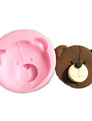 Cartoon Bear Face Silicone Fondant Cake Molds Chocolate Mould For The Kitchen Baking Sugarcraft Decoration Tool