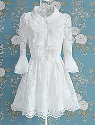Pure White Lace Short-length Princess Lolita Dress