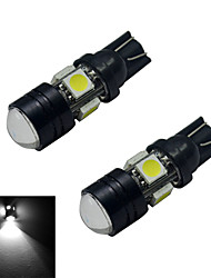 JIAWEN® 2pcs T10 3W 5X5050SMD 250-280LM 6000-6500K Cool White  LED Car Light (DC 12V)