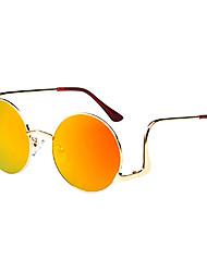 Anti-Reflective Alloy Round Retro Sunglasses