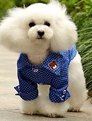 Dog Shirt / T-Shirt / Shirt / Clothes/Clothing Blue Summer Jeans / Polka Dots Wedding / Cosplay