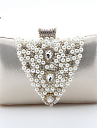 Handcee® Women Elegance Design Pearl Decoration PU Clutch Box