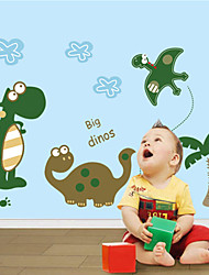 New & Hot ! Cartoon Dinosaur Wall Sticker PVC Removable For Kids Room/Bathroom/Glass Decals