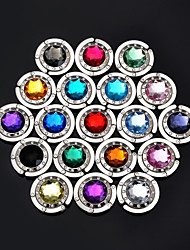 MultiColor Crystal Hangbag Hook Purse Hanger Bag Holder (Random Color) 4.5*4.5*2 cm