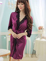 Women Robes/Satin & Silk/Ultra Sexy Nightwear , Lace/Polyester/Silk