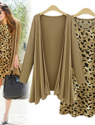 VICONE Women's Long Sleeve Jacket +Sexy Bodycon OL Slim Leopard Dresses