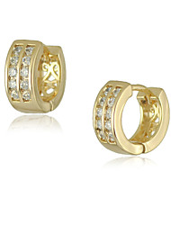 Women's Earring of 2015 New Design hot Fashion Luxury Plating 18K Gold Crystal Zircon Earrings Hoop